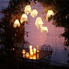 From lighting to decoration, wonderful ideas for taking the party outside...whatever the weather