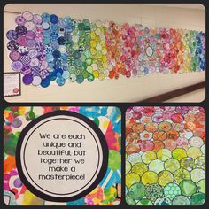 All-school Dot Day mural - Art Education ideas Collaborative Art Projects For Kids, Collaborative Mural, Group Art Projects, School Art Projects, International Dot Day, St Etienne, School Murals, Middle School Art, Art Lessons Elementary