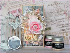 Mixed-media card.  Kartka scrapbooking, mixed-media.