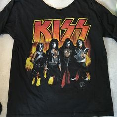 vintage kiss tee vintage kiss tee. neck cut out. size m, i wore it as a dress! Vintage Tops Tees - Short Sleeve