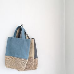 crochet & fabric bag