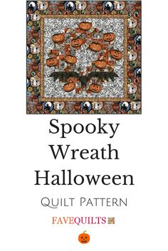 This quilt pattern is spooky cute if you ask me!
