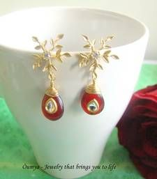 Snowflake with red kundan shop online Rs 849