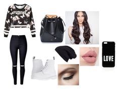 """""""first day of high school"""" by laijah ❤ liked on Polyvore featuring Dr. Martens, N°21, Halogen and Givenchy"""