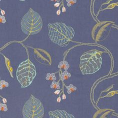 Robert Allen floral upholstery fabric Flower Branch in Cornflower Blue Floral Upholstery Fabric, Chair Upholstery, Floral Fabric, Fabric Flowers, Chair Tips, Robert Allen Fabric, Fabric Combinations, Flower Branch, Fabulous Fabrics