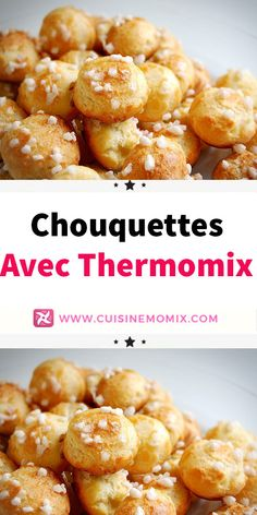 Chouquettes avec Thermomix - The Best Spanish Recipes Crock Pot Desserts, Desserts For A Crowd, Köstliche Desserts, Delicious Desserts, Blueberry Desserts, Brownie Desserts, Lidl, Food To Go, Food And Drink