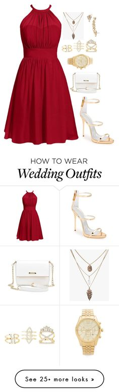 """""""Untitled #113"""" by shxann on Polyvore featuring Giuseppe Zanotti, Charlotte Russe, Marchesa and Michael Kors"""