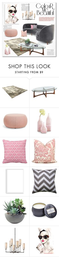 """""""color me beautiful"""" by limass on Polyvore featuring interior, interiors, interior design, home, home decor, interior decorating, Arper, Cyan Design, Bomedo and Rough Fusion"""
