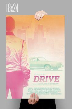 Drive Poster // Ryan Gosling // Movie Print // Home Decor // 11 x 17 // A3 // RIBBA 290 x 390mm