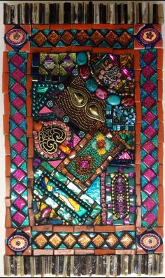 Janis Nunez' tapestry mosaic from Laurel Skye workshop March 2,3