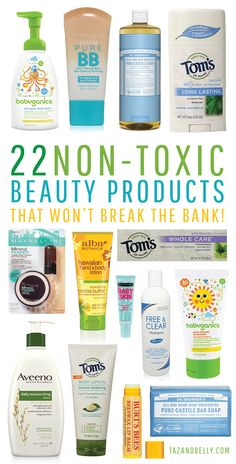 Non-Toxic Beauty Products That Won't Break the Bank includes affiliate links. Any purchases made using these links will earn Taz + Belly a small commission. You can read more about our affiliate… Beauty Care, Beauty Skin, Health And Beauty, Beauty Hacks, Beauty Guide, Face Beauty, Beauty Ideas, Diy Beauty, Beauty Makeup