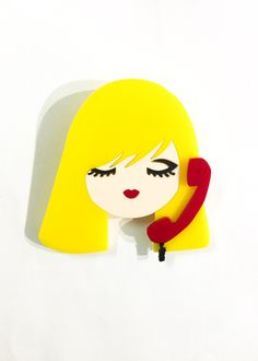 Call Me brooch by Baccurelli