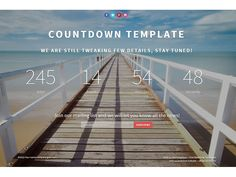 Landing Page Countdown Bootstrap Template is an ideal template for those who are going to build landing page website. This template is clean and easy to customize, built on top of Bootstrap 3.3.2. It's totally free and you can use it for personal and commercial purpose.