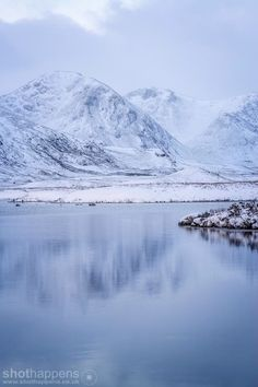 Rannoch Moor cold snap near Glencoe in Highlands
