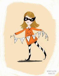Rose Hill Designs - October #LoveHalloween #HalloweenIllustration #Pumpkin