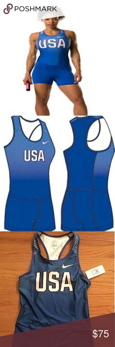 Womens Nike USA Track Singlet Med Brand New With Tags Nike Tops