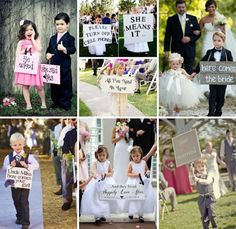 Ideal ways for involving the children in your wedding ceremony.