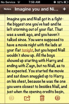 "Niall Imagine: ""The Fight"" Part 1"