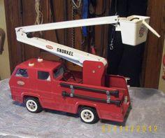 Vintage TONKA Snorkel Fire Truck  Pressed Steel 1960/70s
