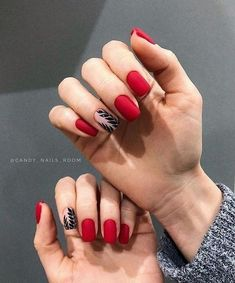 55 amazing red nail ideas that you can create when ever you want - Red nails look so shiny and beautiful compared with other colored nails. You can wear red nails in - Purple Nails, Love Nails, Pink Nails, Pretty Nails, Nail Deco, Nagel Blog, Red Nail Designs, Cute Acrylic Nails, Artificial Nails