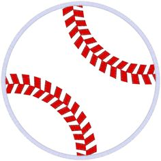 Baseball (A40) Ball Applique 6x10