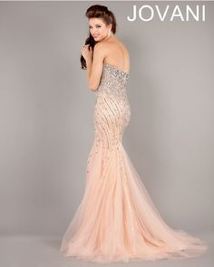 Jovani 2013 Black Gold and Blush Silver Strapless Sweetehart Mermaid Gown with Beading and Sequins 6837 | Promgirl.net