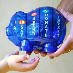 Teaching personal finance for kids-Money Savvy Pig Bank Amazing bank to help show kids they have choices for their money. Great birthday or holiday gift for kids! Teaching Tools, Teaching Kids, Teaching Money, Dave Ramsey, Money Matters, Money Management, Money Saving Tips, Gifts For Kids, Activities For Kids