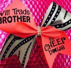 Will trade Brother: Rhinestone Cheer Bows, Sequin, Glitter, Monogram & Custom Cheer Bows
