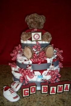 Sports Themed Diaper Cake How To Make Find This Pin And More On Baby Shower Ideas