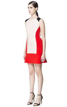 ZARA: TRICOLOUR DRESS Ref. 6009/052 $89.90