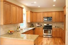 integrated classic solid wood kitchen cabinet