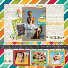 Simple Stories - I Heart Summer.  Shipping to retailers Mid May!