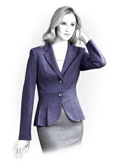 Personalized Jacket Sewing Pattern - Women Jacket, Ladies Clothes, PDF pattern 4183. $2.49, via Etsy.