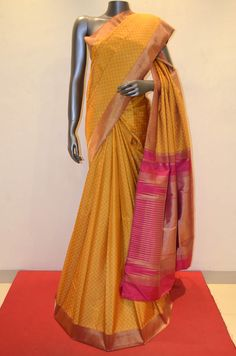 Yellow Checks Traditional Kanjeevaram Silk Saree Product Code: AA207707 To Shop Online Click Here : http://www.janardhanasilk.com/Yellow-Checks-Traditional-Kanjeevaram-Silk-Saree?search=AA207707
