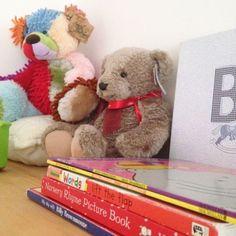 reubens room - childrens baby decor interiors bedroom boy - lylia rose blog - boy teddies, books
