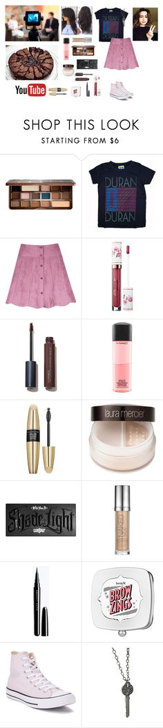 """💯 challenge #23//cooking with dodie!"" by circe-1emon ❤ liked on Polyvore featuring Too Faced Cosmetics, Junk Food Clothing, Sephora Collection, MAC Cosmetics, Max Factor, Laura Mercier, Kat Von D, Urban Decay, Benefit and Converse"