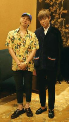Two gorgeous beauties ♡♡ Daesung, Gd Bigbang, Bigbang G Dragon, G Dragon Cute, G Dragon Top, Gd Et Top, Yg Entertainment, Kpop, Sung Lee