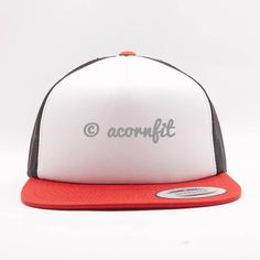 2cd6e435 Shop for Wholesale Yupoong Red White Black Triple Tone Sponge Foam Trucker  Hat and Order for Custom Design Logo and Custom Embroidery to Hats.