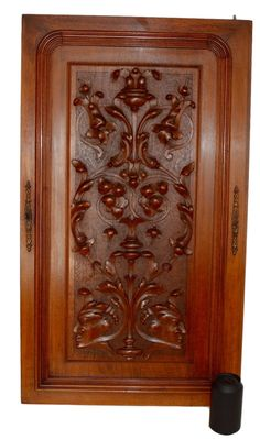 French Antique Neoclassical Large Carved Salvaged Wood Door Panel    Classical Men Carving   Cupboard Door   Architectural Wood Salvage Door