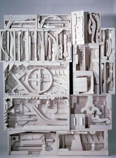 Louise Nevelson's artworks are assemblages of found objects. I love Nevelson's art!