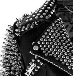 Burberry Porsum Spiked Leather Jacket