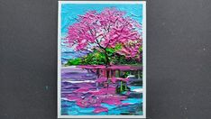Cherry Blossom Painting, Cherry Blossoms, Spring Landscape, Landscape Walls, Craft Supplies, Original Paintings, Fragrance, Draw, Feelings