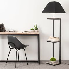 Metal and Fir Floor Lamp with Black Cotton Lampshade on Maisons du Monde. Take your pick from our furniture and accessories and be inspired! Teen Furniture, Hallway Furniture, Metal Furniture, Dining Room Bench Seating, Living Room Chairs, Living Room Furniture, Industrial Home Offices, Handmade Lamps, Wood Lamps