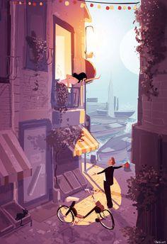 Illustrazioni di Pascal Campion - Romeo and Juliet