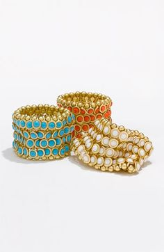 Tasha Bezel Set Stone Stretch Bracelet
