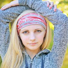f38d97ed9e73 Coral Headband Alopecia Headband Extra Wide by SpecificallyRandom Wide  Headband