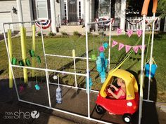 Backyard Bike Wash Tutorial! How fun is this idea?!