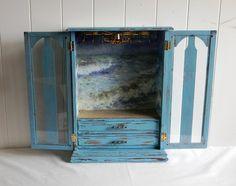Beach Cottage Chic Jewelry Box  Upcycled Vintage di BrisNanaJoy