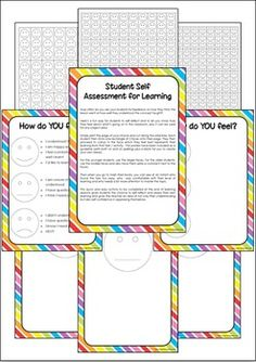 How often do you ask your students for feedback on how they think the lesson went or how well they understood the concept taught?Heres a fun way for students to self reflect and to let you know how they feel about whats going on in the classroom, plus it can be used for any subject area.Simply print the page of your choice and cut along the solid lines.