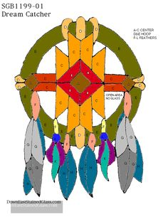 Stained Glass Pattern Club~ Dream Catcher Stained Glass Pattern